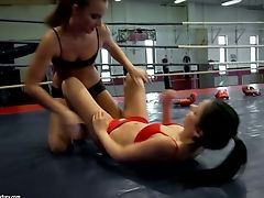 Lezzy Wrestlers Amirah Adara And Jessyka Swan  Lose It All