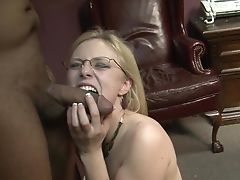 Blonde Senses The Best Experiencing Ever With Mans Goopy Juice All Over Her Face