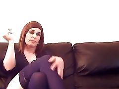 Feminized Male Tranny Smoking