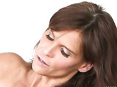 Dark Haired Chachita With Yam-sized Knockers And Bald Cunt Cant Fight Back Syren Demers Attraction And Gives Her Crevasse A Eat