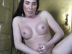 Russian Tgirl Tugging Penis And Frolicking Bootie
