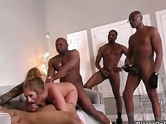 Puerto Rican Nymphomaniac Skylar Snow Is Anxious To Be Group-fucked Truly Hard
