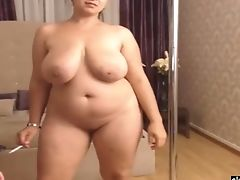 Voluptuous Cougar-type Romanian Woman Loves Flashing Off Giant Bum And Tits