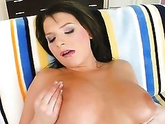 Nasty Black-haired Nancy Loves In Playing With Her Mounds