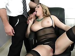 Blonde Is Addicted To Jizz