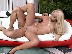 Vapid Chested Blonde Jessy Tiger Gets Pounded