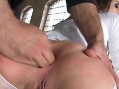 Valentina Bianco  - Assfuck Threesome In Milky Pantyhose