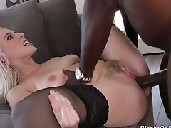 Big Black Meat Pole Drilling Cadence Lux's Pink Twat Plums Deep