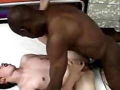 Old Black Mentor Fucks  Youthful Milky Boy Fuckin' Deep