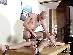 Faggot Clip Of Brit Youngster Oli Jay Is Roped
