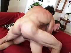 Auburn Haired Sexy Bitch On The Couch Wants Sultry Classical Fuck-fest