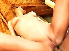 Sleek And Sexy Blonde Chick Gilda Is Getting Pleased By Two Cock-squeezing Cocked Dudes With Hot And Rude Dual Invasion.