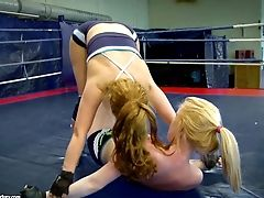 Alice King And Daikiri Getting Naked In The Ring