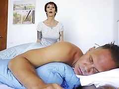 Tattooed Old Mega-slut Catalya Mia Gives Her Head And Gets Fucked Early In The Morning