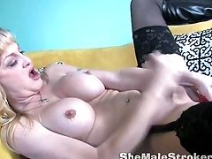 Olivia Love Shemale Dildo Blowjob And Anal Tranny Sucking
