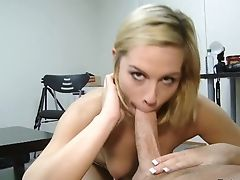 Blonde Gets The Pleasure From Poon Fucking Like Never Before